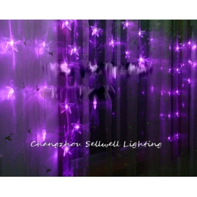 Wholesale GREAT!Festival light hotel decoration 56 pcs five pointed star Purple H326(2)