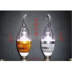Wholesale NEW! LED C35 pull the end of E14S 220V 1W ​​3W LED frosted clear light light bulbs LED078