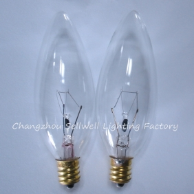 Wholesale E12 candle lamp small bulb Screw base incandescent light bulb 220V/40W transparent A733