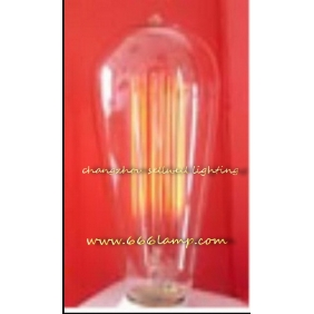 Wholesale NEW!Yellow feet clear light Edison Bulb lamp 120V 60W E27 ST64X146 AD001