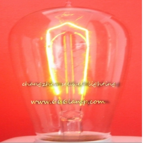 Wholesale NEW!Edison light bulb (the NRK top) Yellow feet clear light lamp220v 40w e27 st58x125 AD002