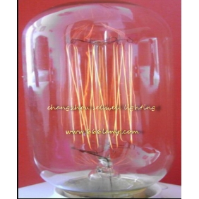 Wholesale GREAT!Edison lamp light Yellow feet clear light Edison bulb 220V 40W E27 T45X110 AD010