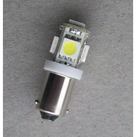 Wholesale NEW!LED Indicating Lamp BA9S Single Tail Flat Foot T10 5SMD-5050 24V 2.5W Light Color Red,Yellow,White,Blue,Green LED176