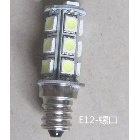 Wholesale GREAT!LED Indicating Lamp E12 Screw type 18SMD-5050 DC24V 5W Light Color Yellow,Red,Blue,Green,White LED237