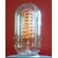 Wholesale GOOD!220V 40W E27 T45X130 Yellow feet clear light lamp Edison bulb AD014