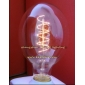 Wholesale HOT! Yellow the foot pure light long tube Edison bulb lamp 220V 40W E27 G80X120 AD016